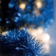 Blue shiny decorations — Stock Photo