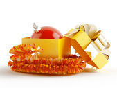 Christmas sphere as gift — Foto Stock