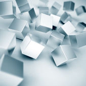Metallic cubes — Stock Photo