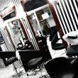 Interior of luxury modern hairdressing salon in pin-up style — Stock Photo #13946848