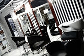 Interior of luxury modern hairdressing salon in pin-up style — Stock Photo