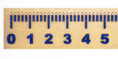 Ruler with the marking — Foto Stock