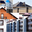 Stock Photo: Architectural details beautiful suburbhouses