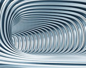 Abstract metallic tunnel as futuristic background — Stock Photo