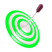Target and dart pin in the center on a white background — Stock Photo