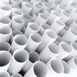 White plastic tube as technological background — Stock Photo