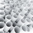 White plastic tube as technological background — Stock Photo #27164397