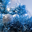 Stock Photo: Blue christmas decoration