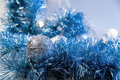 Blue christmas decoration — Stockfoto
