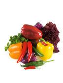 Autumn harvest of pepper — Stock Photo
