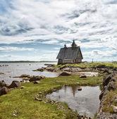 白い海の教会. — ストック写真