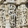 Stock Photo: Ancient Sun Temple in Ranakpur. Jain Temple Carving.