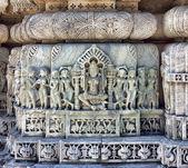 Ancient Sun Temple in Ranakpur. Jain Temple Carving. — Stock Photo