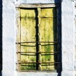 Three old windows with wooden shutters — Stock Photo