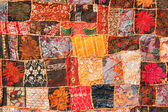 Indian patchwork carpet — Stock Photo