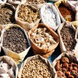 Variety of spices in local market in Pushkar — Stock Photo