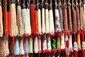 Indian beads in local market in Pushkar. — Stock Photo