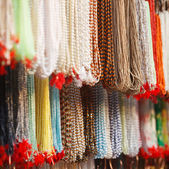 Indian beads in local market in Pushkar. — Stock Photo