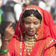 Indian girls in colorful ethnic attire — Stock Photo