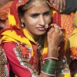 Indian girl in colorful ethnic attire — Stock Photo