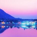 Pushkar lake at night — Stock Photo