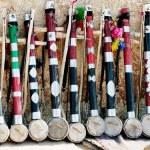 indiska violin - traditionell produkt för turister — Stockfoto