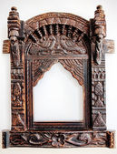 Old carved wooden frame. — Stock Photo
