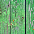 Old wooden boards painted in green. Background.  — Stock Photo