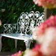 White Garden bench — Stock Photo