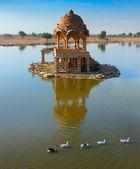 Gadi Sagar (Gadisar), Jaisalmer, Rajasthan, India, Asia — Stockfoto