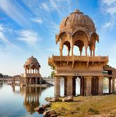 Gadi Sagar (Gadisar), Jaisalmer, Rajasthan, India, Asia — Zdjęcie stockowe