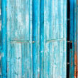 Old blue wooden shutters — Stock Photo #31014195