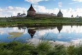 Solovki. Spaso-Preobrazhenskiy solovetsky monastery, Karelia, Russia — Stock Photo