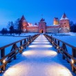 Trakai - historic city and lake resort in Lithuania — Stock Photo