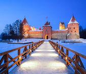 Trakai - historic city and lake resort in Lithuania — Stock Photo