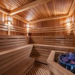 Interior of a wooden sauna — Stock Photo #36994171