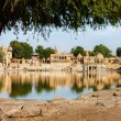 Gadi Sagar (Gadisar) Lake, Jaisalmer, Rajasthan, India, Asia — Stock Photo #37332815