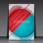 Abstract Circle Vector Flyer Design - EPS10 Background — Stock Vector