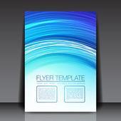 новый синий вектор листовка дизайн - eps10 фон — Cтоковый вектор