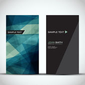 Blue Modern Vertical Business Card Set | EPS10 Vector Design — Stockvektor