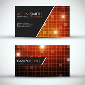 Orange Modern Business Card Set | EPS10 Vector Design — Stock Vector
