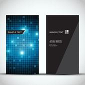 Blue Modern Vertical Business Card Set | EPS10 Vector Design — Stock Vector