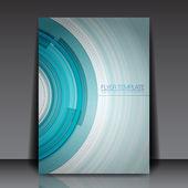 Technology Vector Flyer Design - EPS10 Background — Stock Vector