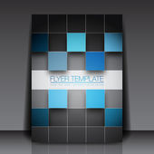 3D Squares - Business Flyer Template Vector Design — Stock Vector