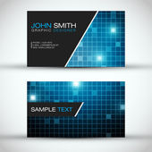 Blue Modern Business Card Set | EPS10 Vector Design — Stok Vektör