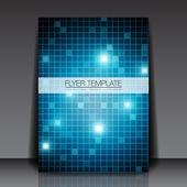 Cuadrados azules - diseño de flyer plantilla vector — Vector de stock
