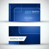 Blue Modern Business Card Set | EPS10 Vector Design — Stock Vector