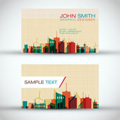 City Panorama Business Card Set | EPS10 Vector Design — Stock Vector