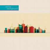 Abstract Colorful panorama city background | EPS10 Design — Vettoriale Stock