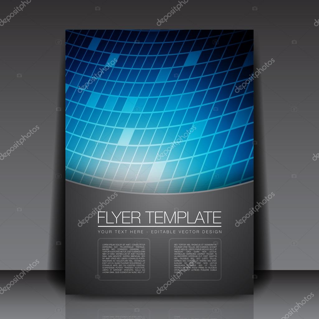 Blue Squares Flyer Template Vector Design Vector 12020222 – Blue Flyer Template